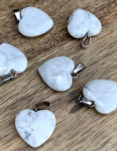 "Check out our white howlite necklace selection for the very best in unique, handmade pieces. Free Shipping available. Genuine howlite necklace and pendant. Howlite Pendant is calming because it encourages you to ""live and let live"", letting go of attachments. Howlite provide a deep, calm, peaceful strength."