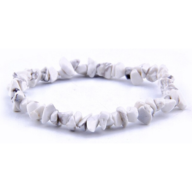 Howlite Stone Raw Bracelet - Howlite Jewelry - Magic Crystals