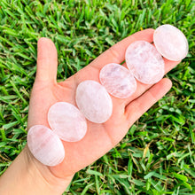 Load image into Gallery viewer, Rose Quartz Palm Stone Gemstone-Magic Crystals