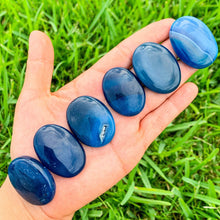 Load image into Gallery viewer, Blue Onyx Palm Stone Gemstone-Magic Crystals