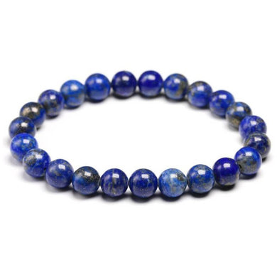 Lapis Lazuli Gemstone Elastic Bead Bracelet-Bracelets-Magic Crystals