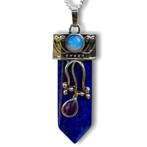 Lapis Lazuli Stone Pendant Handmade Crystal Necklace - Magic Crystals  - Stone Necklace - Magic Crystals