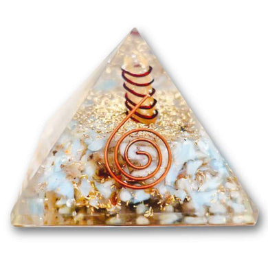 Blue Lace Agate Orgone Pyramid - Best orgone pyramid - Orgonite - EMF