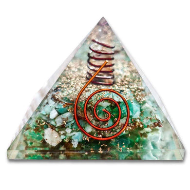 Shop for the Best orgone pyramid Collection in Magic Crystals. Green Aventurine Orgone Pyramid, Energy Generator Orgone Pyramid for Emf protection. Our Green Aventurine Orgonite pyramids made of a mix of organic - resin and non-organic materials (metal shavings). Find Best orgonite, Orgone accumulator, orgone generator