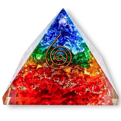 Shop for the Best orgone pyramid Collection in Magic Crystals. 7 chakra Orgone pyramid, Energy Generator Orgone Pyramid for Emf protection. Our seven chakras Orgonite pyramids made of a mix of organic - resin and non-organic materials (metal shavings). Find Orgone accumulator, orgone generator and Orgonite Crystals.