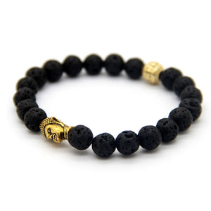 Lava Stone Buddha Bracelet-Bracelets-Magic Crystals