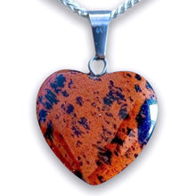 Load image into Gallery viewer, Mahogany Obsidian Pendant Necklace. Find the best quality Mahogany Obsidian Heart Necklace and Obsidian Jewelry when you shop at Magiccrystals.com . Magic Crystals offers FREE SHIPPING and healing crystals.