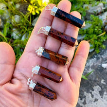 Load image into Gallery viewer, Looking for an Mahogany Obsidian Necklace? Find a Mahogany Obsidian Jewelry when you shop at Magic Crystals. Natural Mahogany Obsidian Crystal Healing Pendant Necklace. Mahogany Obsidian is often used to aid in the decision making process. Mahogany supports the body's physical health and overall well-being.