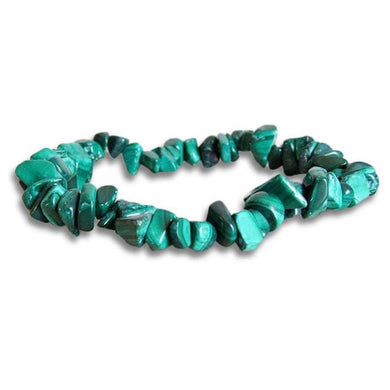 Malachite Elastic Raw Bracelet - Malachite Jewelry - Magic Crystals