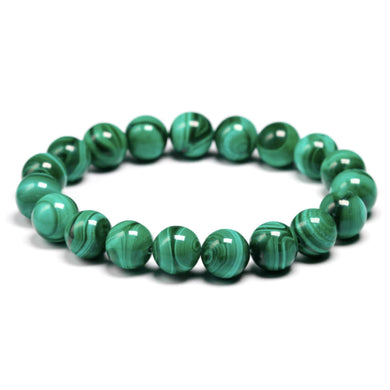 Genuine Malachite Stone Bead Bracelet-Bracelet-Magic Crystals