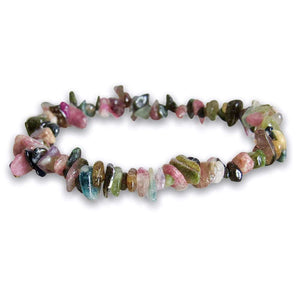 Natural Gemstone Mix Raw Stone Bracelet - Magic Crystals