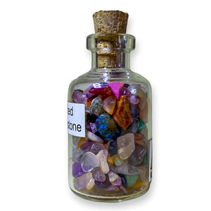 citrine quartz crystal elixir water bottle, citrine crystal water bottl, citrine water bottler benefits.. Gemstone Crystal Bottle - Stone Bottle Set - Gemstone Chips - Tarot Gemstone Bottle, Crystal Gemstone Bottle - gemstone crystal chips. The listing is for one Crystal Bottle. Crystals included Peridot, Blue Topaz, Carnelian, Turquoise, Moonstone, Rose Quartz, Tigers Eye, Quartz, Amethyst, Aventurine, Garnet, Citrine.