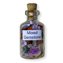 Load image into Gallery viewer, citrine quartz crystal elixir water bottle, citrine crystal water bottl, citrine water bottler benefits.. Gemstone Crystal Bottle - Stone Bottle Set - Gemstone Chips - Tarot Gemstone Bottle, Crystal Gemstone Bottle - gemstone crystal chips. The listing is for one Crystal Bottle. Crystals included Peridot, Blue Topaz, Carnelian, Turquoise, Moonstone, Rose Quartz, Tigers Eye, Quartz, Amethyst, Aventurine, Garnet, Citrine.