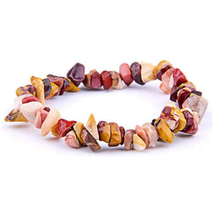 Mookaite Jasper Raw Bracelet - Mook Jasper Jewelry - Magic Crystals