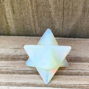 Merkaba Healing Crystals are known for activation of the Light Body merged with the Physical Body in Awakening deep Spiritual Transformation. Shop for Opalite Stone Crystal Merkaba - Sacred Geometry Star at Magic Crystals. Magiccrystals.com has Merkaba Necklace, gemstone Merkabahs, and Sacred Geometry sets