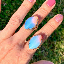 Load image into Gallery viewer, Find the best selection of opalite ring here at MagicCrystals.com . Opalite Stone. Opal Stone rings. Opalite Stone rings and Opalite Jewelry. opal rings help to encourage healing.