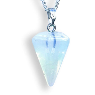 Opalite Stone Stone Quartz Single Point Necklace-NECKLACES-Magic Crystals