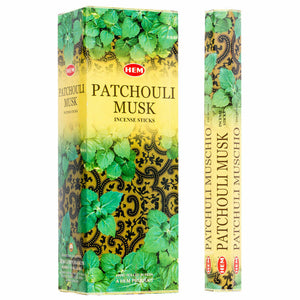 HEM Patchouli Musk Incense Sticks Natural Essence - Patchuli Muschio Incienso - Magic Crystals