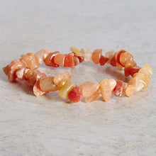 Load image into Gallery viewer, Peach Aventurine Raw Bracelet - Aventurine Jewelry - Magic Crystals