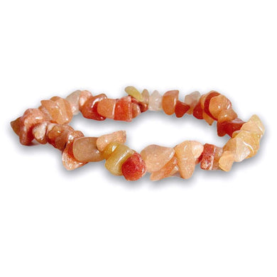 Peach Aventurine Raw Bracelet - Aventurine Jewelry - Magic Crystals