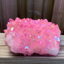 Load image into Gallery viewer, Shop for Rose AURA QUARTZ - Rainbow Aura Quartz Crystal Cluster, Spirit Quartz Crystal Decor Metaphysical at Magic Crystals. Magiccrystals.com has grade a aura quartz with free shipping available.