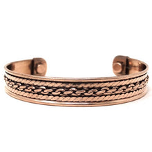Load image into Gallery viewer, Copper Bracelet Magnetic, Chain Design cuff wristband - Magic Crystals - Copper Bracelet