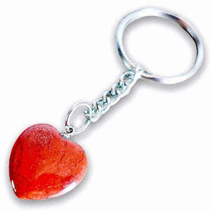 Red Jasper Keychain. Red jasper is a stone of physical strength. Red Jasper Stone Heart Keychain - Crystal Keychain at Magic Crystals. Shop with free shipping available. We carry a wide variety of cat eyes keychains, gemstones, bracelets, earrings and handmade jewelry.
