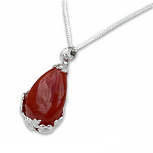 Load image into Gallery viewer, Red Agate Stone Handmade Tear Drop Flower Necklace-NECKLACES-Magic Crystals