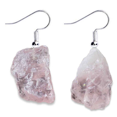 Pink Stone Earrings. Shop for Handmade Raw Rose Quartz Natural Stone Pink Earrings! Magic Crystals carries a wide variety of beautiful friendship earrings. Unique Rose Quartz Earrings, Crystal Earrings and Rose Quartz jewelry at magiccrystals.com