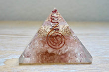 Load image into Gallery viewer, Rose Quartz Orgone Pyramid, Energy Generator, Orgonite, Magic Crystals