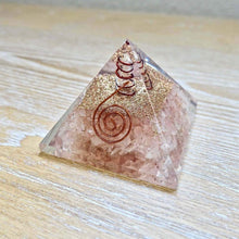 Load image into Gallery viewer, Shop for the Best orgone pyramid Collection in Magic Crystals. Rose Quartz Orgone Pyramid, Energy Generator Orgone Pyramid for Emf protection. Our Rose Quartz Orgonite pyramids made of a mix of organic - resin and non-organic materials (metal shavings). Find Orgone accumulator, orgone generator and Orgonite Crystals