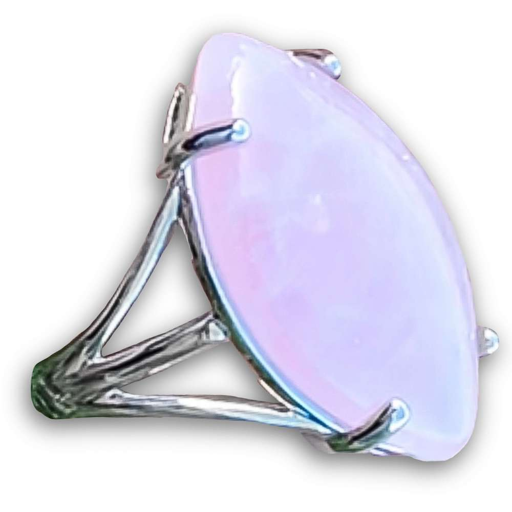 Pink Stone ring. Pink Jewelry. Rose Quartz Stone Ring and Natural Rose Quartz Jewelry at Magiccrystals.com . Rose Quartz rings help to encourage healing. Rose Quartz rings. Rose quartz is often called the