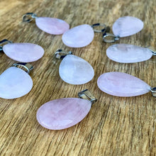 Load image into Gallery viewer, Rose Quartz Drop Pendant - Crystal Gemstone Jewelry  - Magic Crystals - Necklaces - Drop Necklaces - Gemstone pendant
