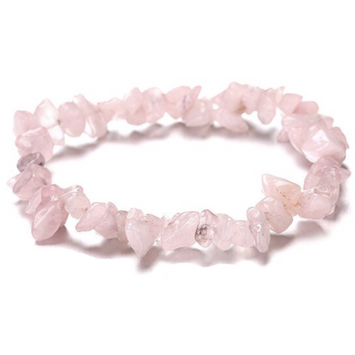 Rose Quartz Raw Bracelet-Raw Bracelets-Magic Crystals