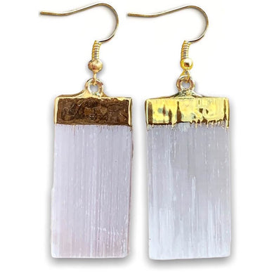 Did you scroll all this way to get facts about selenite? Selenite is like liquid light. Shop for Selenite Crystal Earrings - Raw Crystal Earrings - Selenite Stone Earrings - Wife Gift For Her - Golden Selenite Jewelry in Magic crystals. Beautiful purification crystal set in gold. FREE SHIPPING available.