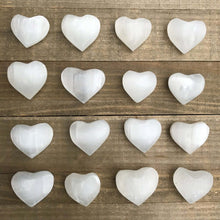 Load image into Gallery viewer, Did you scroll all this way to get facts about selenite? Selenite is like liquid light. Shop for Selenite Heart - Carved selenite - healing crystal in Magic crystals. FREE SHIPPING available and beautiful heart carved stones with genuine gemstones.