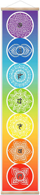 Seven 7 Chakra Sign Poster Hanging Scroll Banner - Magic Crystals