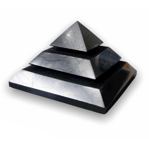 Medium Shungite Energy Pyramid from Russia. Shungite Sakkara Polished Pyramid 10cm, Chakra Healing Stone, Block EMF's WIFI Radiation 5G. Metaphysical Properties of Shungite is an extremely earthy stone that is wonderful for easing geopathic stresses such as harmful electromagnetic pollution, smog, and frequencies.