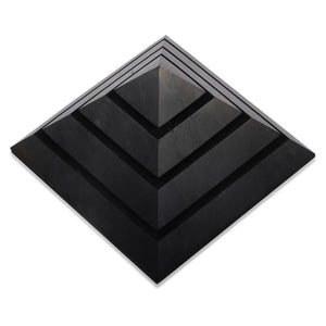 Large Shungite Energy Pyramid from Russia. Shungite Sakkara Polished Pyramid 10cm, Chakra Healing Stone, Block EMF's WIFI Radiation 5G. Metaphysical Properties of Shungite is an extremely earthy stone that is wonderful for easing geopathic stresses such as harmful electromagnetic pollution, smog, and frequencies.
