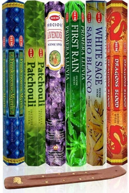 Six Most Popular Hem Incense Scents of All Time with Free Incense Burner-AROMATHERAPY-Magic Crystals