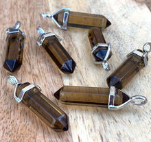 Load image into Gallery viewer, Smoky Quartz Double Point Handmade Pendant Necklace