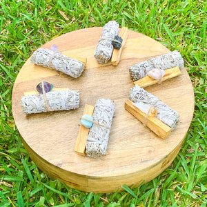 Looking for, where can I buy White Sage, Palo Santo sticks, and Fluorite? Shop at Magic Crystals for Fluorite Smudge Bundle - Palo Santo, Sage - Fluorite - Space Clearing - Home Cleansing Kit - Neutralizes Negative Energy & Stress Smudge Bundle - Meditation. Smudging for Cleansing and Clearing Your Home, Clearing Nega…