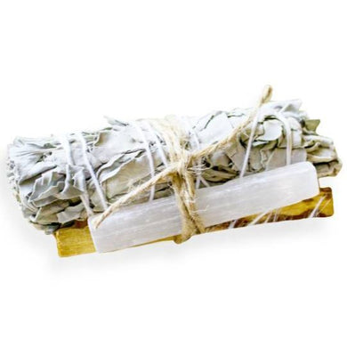 Smudge Kit Sage, Palo Santo and Selenite Stick