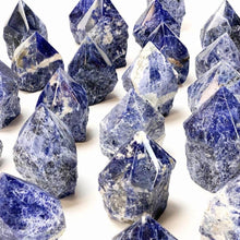 Load image into Gallery viewer, Looking for sodalite crystal points? Shop at Magic Crystals for Sodalite Polished Point, Sodalite Stone, Blue Sodalite Point, Stone Point, Crystal Point, Sodalite Tower, Power Point at Magic Crystals. Natural Sodalite Gemstone for CALMNESS, SELF-ESTEEM , INTUITION. Magiccrystals.com offers the best quality gemstones.