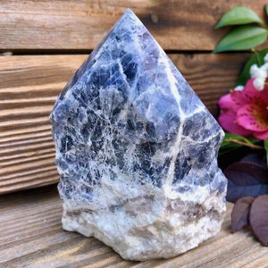Looking for sodalite crystal points? Shop at Magic Crystals for Sodalite Polished Point, Sodalite Stone, Blue Sodalite Point, Stone Point, Crystal Point, Sodalite Tower, Power Point at Magic Crystals. Natural Sodalite Gemstone for CALMNESS, SELF-ESTEEM , INTUITION. Magiccrystals.com offers the best quality gemstones.