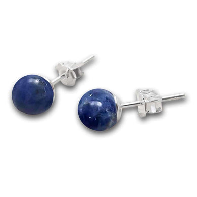 Sodalite Stud Beaded Earrings - Sodalite Jewelry - Magic Crystals - Stud Earrings