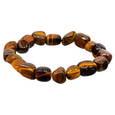 Yellow Tiger Eye Stone Bracelet and Tiger Eye Jewelry at Magic Crystals. Yellow Tiger Eye Chunky Crystal Bracelet | Tumbled Stones | Elastic Stretch. Tiger Eye Healing Crystal Tumble Beaded Bracelet. Tiger eye stone meaning is helpful increasing the concentration and thinking ability.