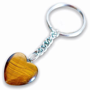 TIGER EYE KEYCHAIN. Tiger Eye may also bring good luck to the wearer. Yellow Tiger Eye Heart Keychain - Crystal Keychain at Magic Crystals. Shop with free shipping available. We carry a wide variety of cat eyes keychains, gemstones, bracelets, earrings and handmade jewelry.