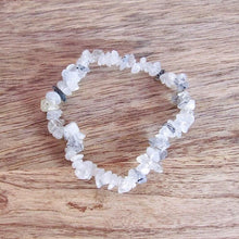 Load image into Gallery viewer, Tourmalinated Quartz - Tourmalated Quartz Stone Natural Raw Bracelet