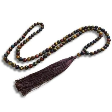 Yellow Tiger Eye Mala Necklace-Mala Necklaces-Magic Crystals